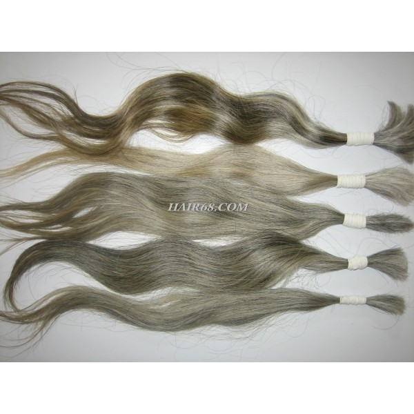 "Wavy Grey Hair/16""(40cm)/TOP QUALITY WHOLESALE HUMAN HAIR WITH GREY HAIR OF VIETNAM REMY HAIR COMPANY"