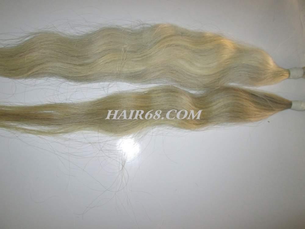 "Grey hair-14""(35cm)-Good quality remy hair same as brazilian hair"