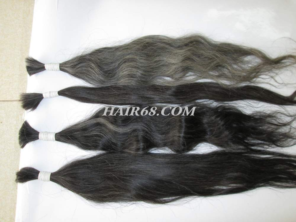 "Grey hair-16""(40cm)-unprocessed Vietnam remy hair"