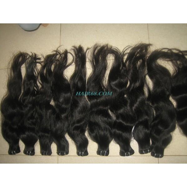 "SINGLE WAVY MACHINE WEFT HAIR/22""/WHOLESALE VIETNAMESE HAIR WITH MACHINE WEFT HAIR"
