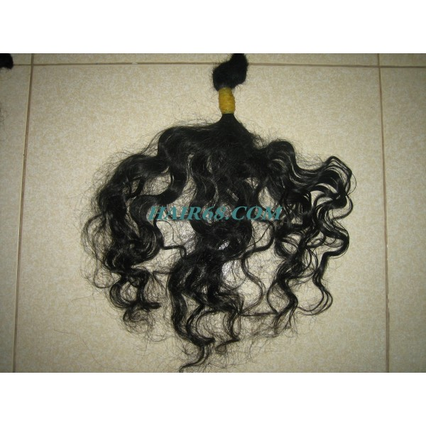 HIGH QUALITY 100% NATURAL HUMAN HAIR WITH CURLY HAIR