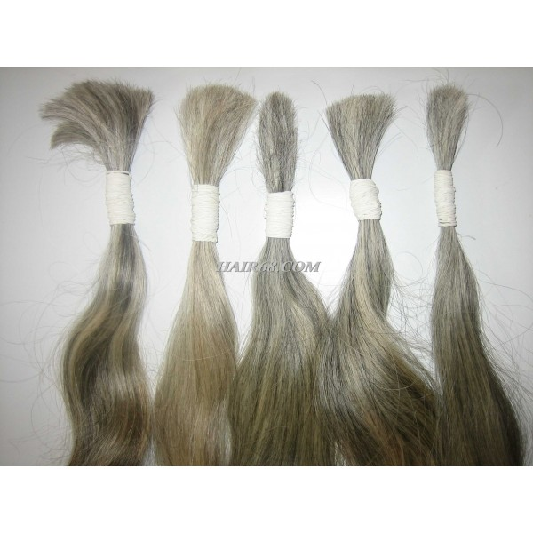 "Grey hair - 22""(55cm)- unprocessed no chemical no dyed vietnam remy hair"