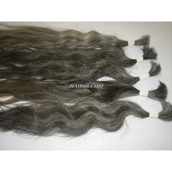 "Grey hair - 24""(60cm)- unprocessed no chemical no dyed vietnam remy hair"