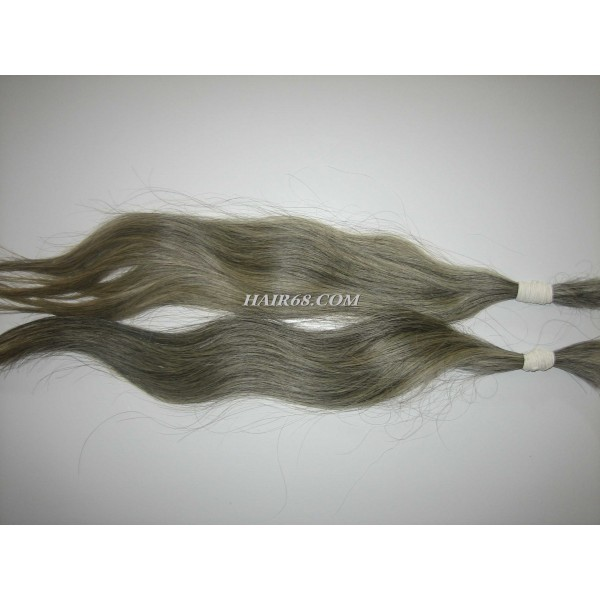 "Grey hair-30""(75cm)-top quality hot selling natural human hair"