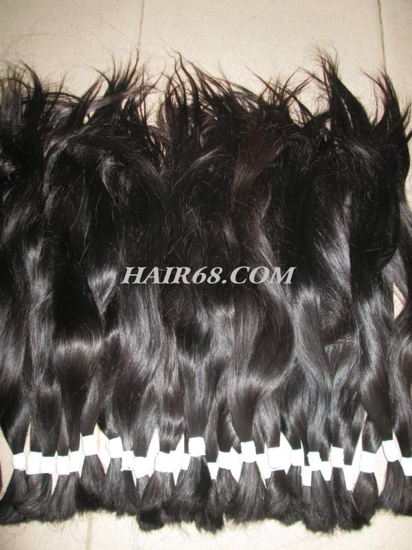 "THICK HAIR-18""(45CM)-TOP QUALITY WHOLESALE HUMAN HAIR WITH GREY HAIR OF VIETNAM REMY HAIR COMPANY"