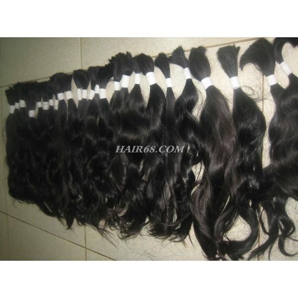 """Thick wavy hair/28""""(70Cm)/100% vietnam human hair"""