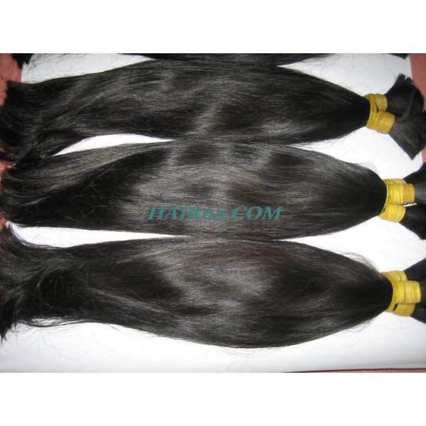 Double drawn straight hair-14inch-HIGH QUALITY NO DYED NO CHEMICAL 100% REMY HUMAN HAIR