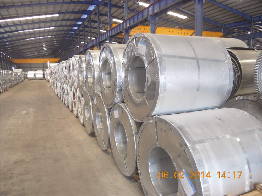 Mua Hot-Dipped 55% AL-Zn alloy coated steel sheet in coil