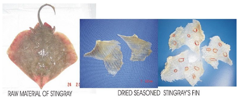 Mua Dried seasoned stingray's fin