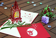 Mua 3D POP UP CARD CHRISTMAS PX002