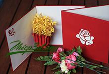 Mua 3D POP UP GREETING CARD FLOWER PK007