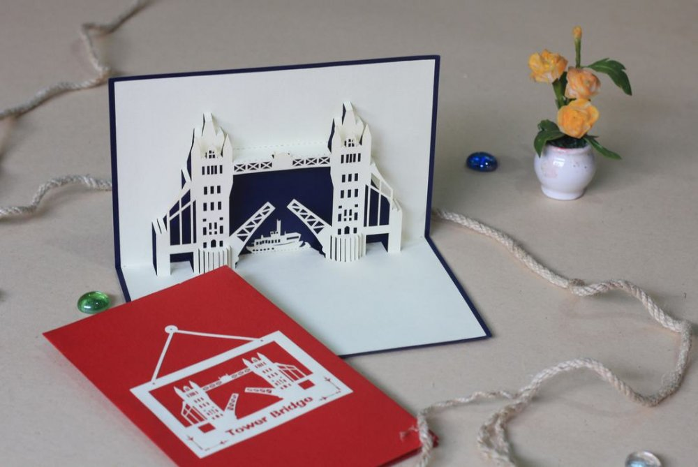 3D POP UP CARD ARCHITECTURE PB016