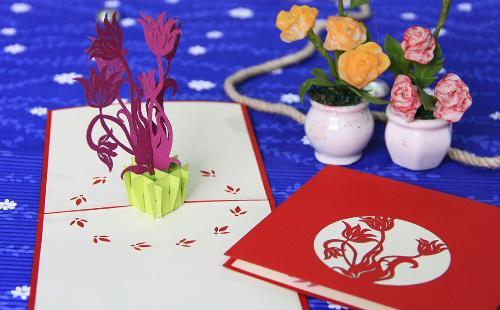 Mua 3D handmade pop up card Flower