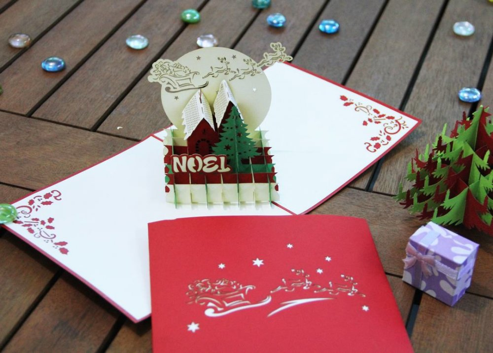 Mua Christmas Pop up greeting card
