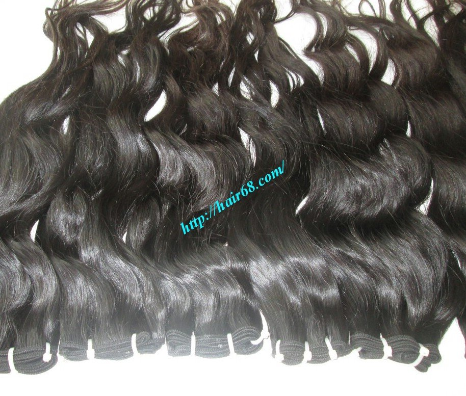 26 inch Wavy Human Hair Extensions - Single Drawn