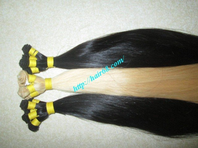 Mua 24 inch Hand Tied Human Hair Extensions Weft – Straight Single
