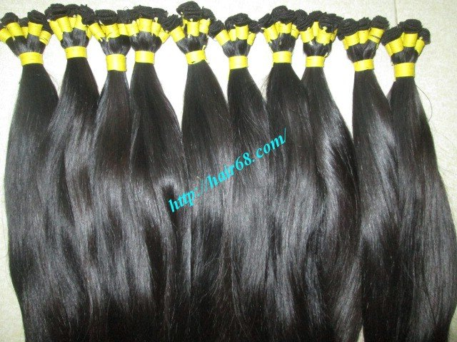 28 inch Hand Tied Remy Hair Weft – Straight Single