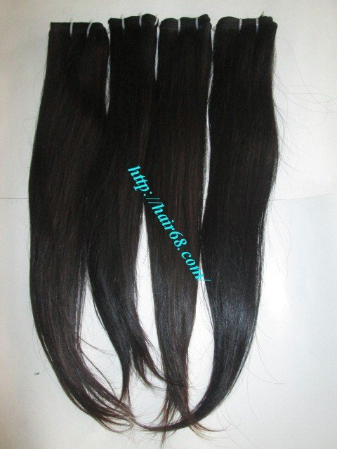 28 inch Natural Human Hair Weaves- Single Straight