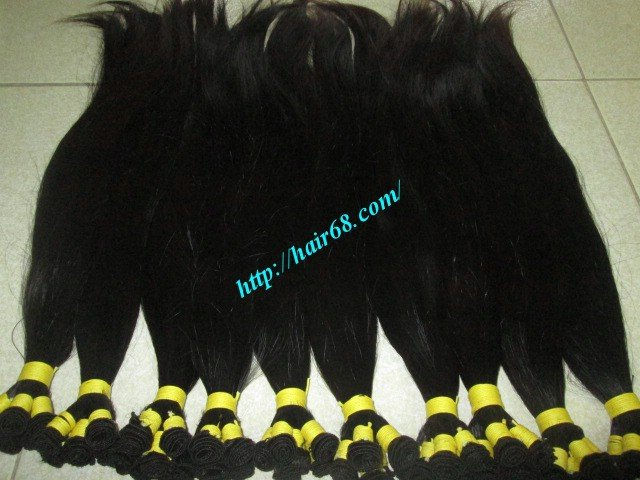 10 inch Hand Tied Human Hair Weft – Straight Single