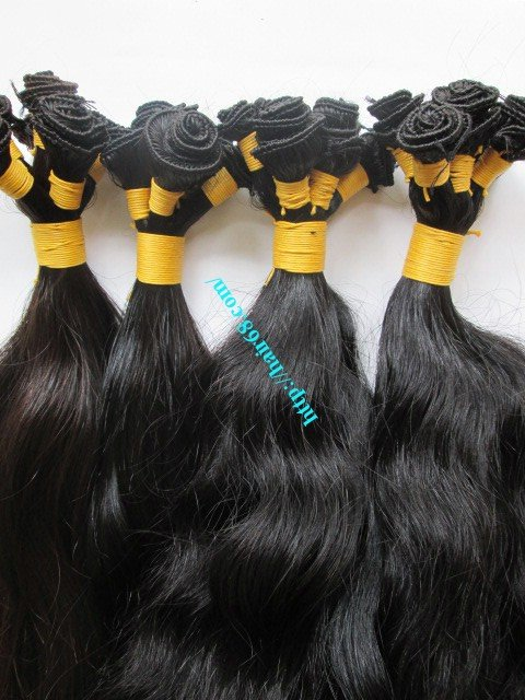 20 inch Hand Tied Wefted Hair Extensions – Wavy Single