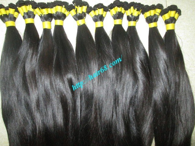 14 inch Hand Tied Remy Weft Hair Extensions – Straight Double