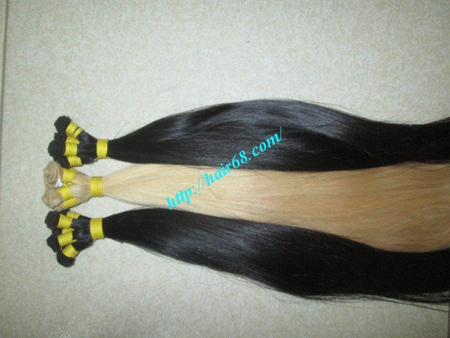 28 inch Hand Tied Human Hair Weft – Straight Double