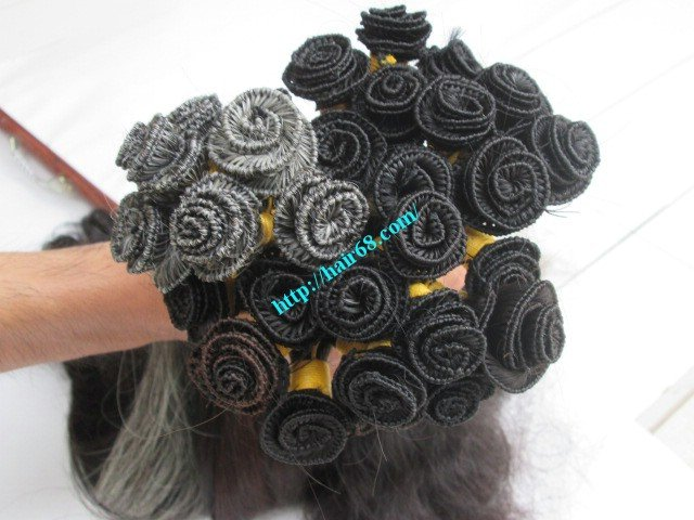 Mua 10 inch Hand Tied Human Hair Weft – Wavy Single