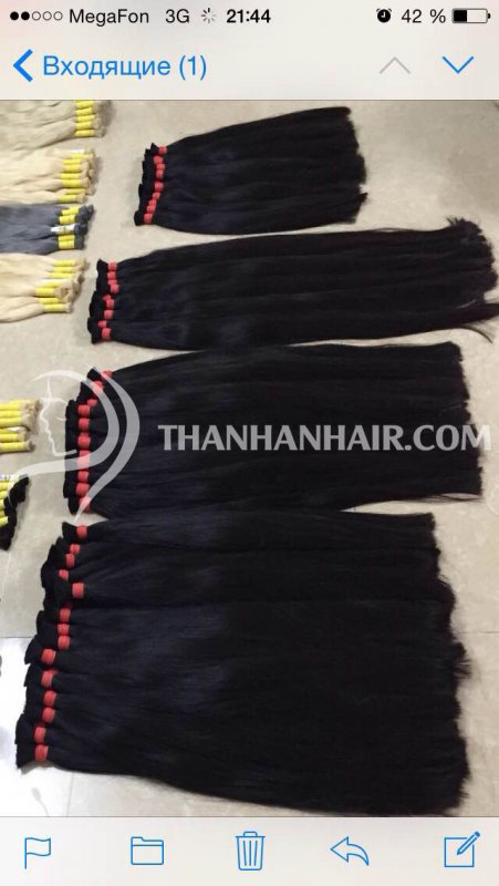 Human natural hair from Vietnam for low price.