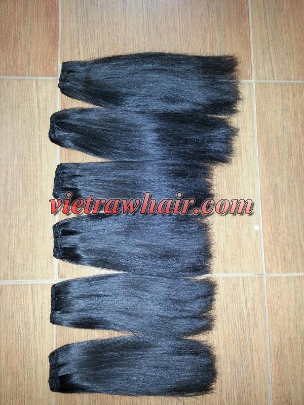 Mua Weft hair high quality double drawn