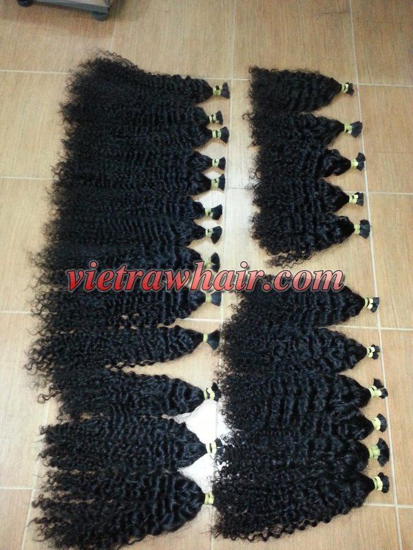 BULK STEAMED CURLY HAIR DOUBLE DRAWN