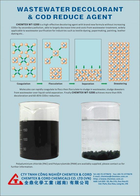 Mua Wastewater Decolorant & COD Reduce Agent