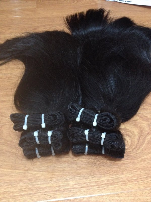 DOUBLE DRAWN STRAIGHT WEFT HAIR WITH HIGH QUALITY