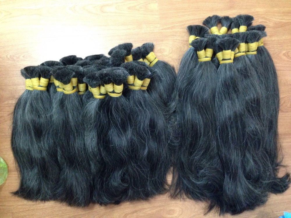 STRAIGHT GREY BULK HAIR