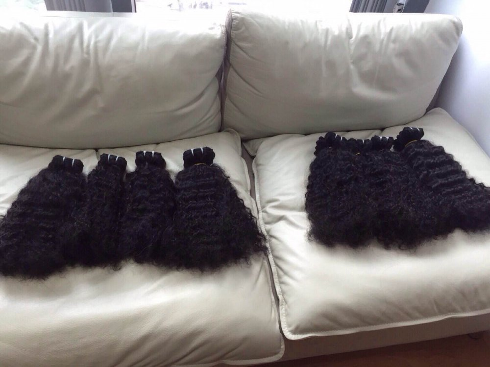 CURLY WEFT HAIR WITH PURE MATERIAL