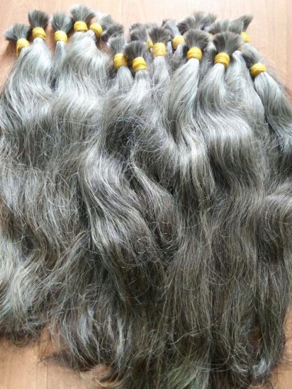 GREY VIRGIN HAIR TOP QUALITY