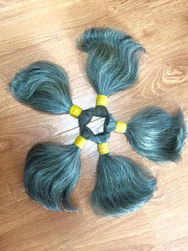 GREY BULK HAIR 100% HIGH QUALITY