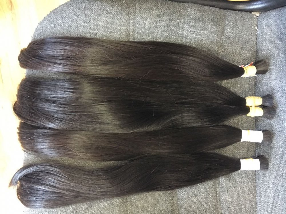 BROWN STRAIGHT BULK HAIR