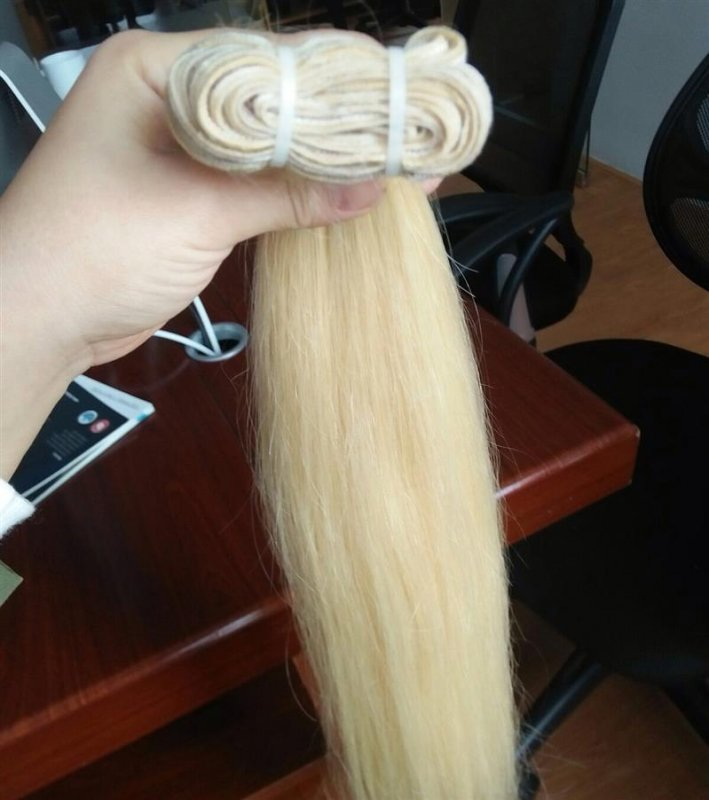 Mua HOT SALES BLOND HAIR TOP GRADE 7A NO TANGLE NO SHEDDING
