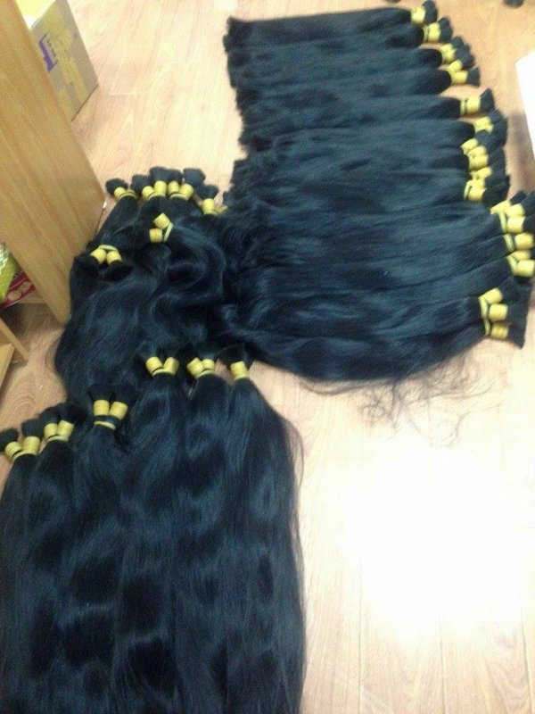 Mua Natural virgin black human hair