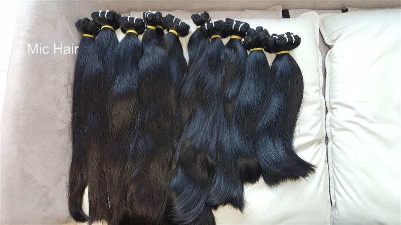 Straight weft hair 100% hunman hair remy
