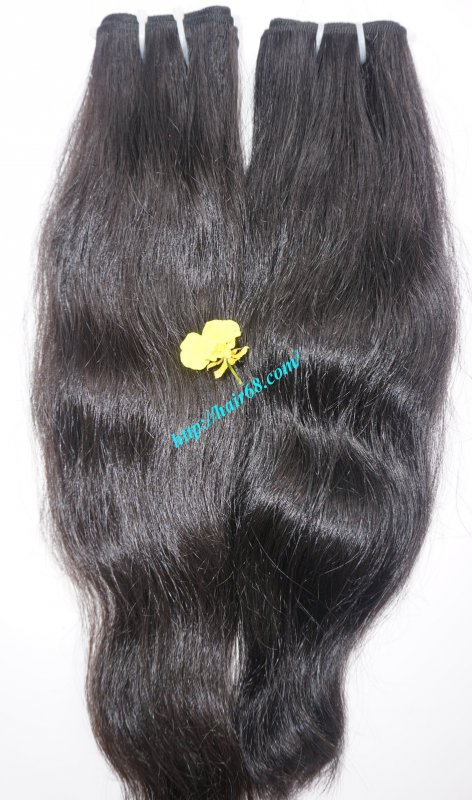 "Mua 20"" Natural wavy hair double weave virgin hair extension"