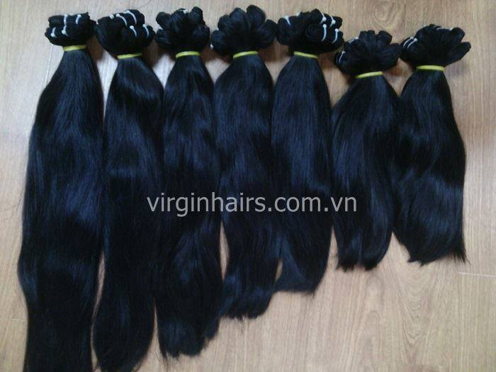 Buy Vietnamese straight hair extension Hair shine and smoothy no Tangle no sheeding