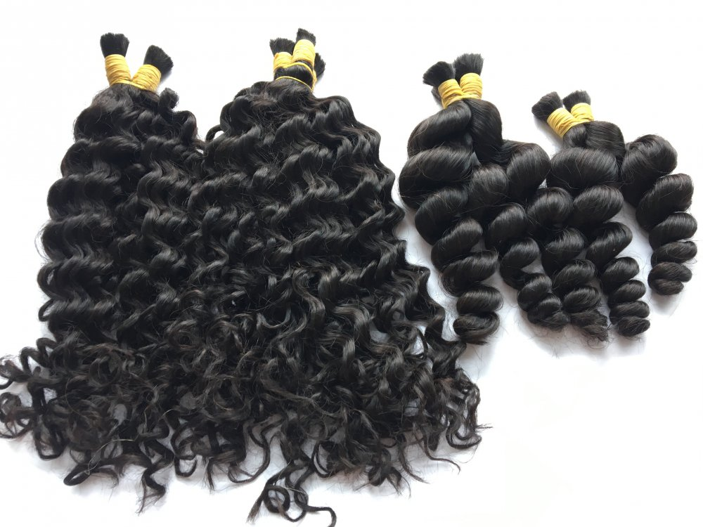 100% human Vietnamese hair curly hair extension