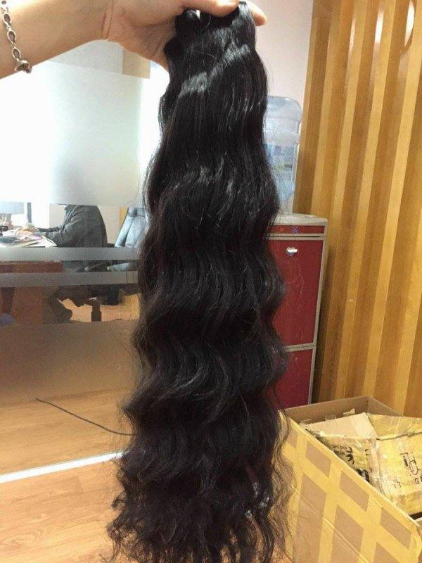 Mua Slight wavy human hair from vietnam
