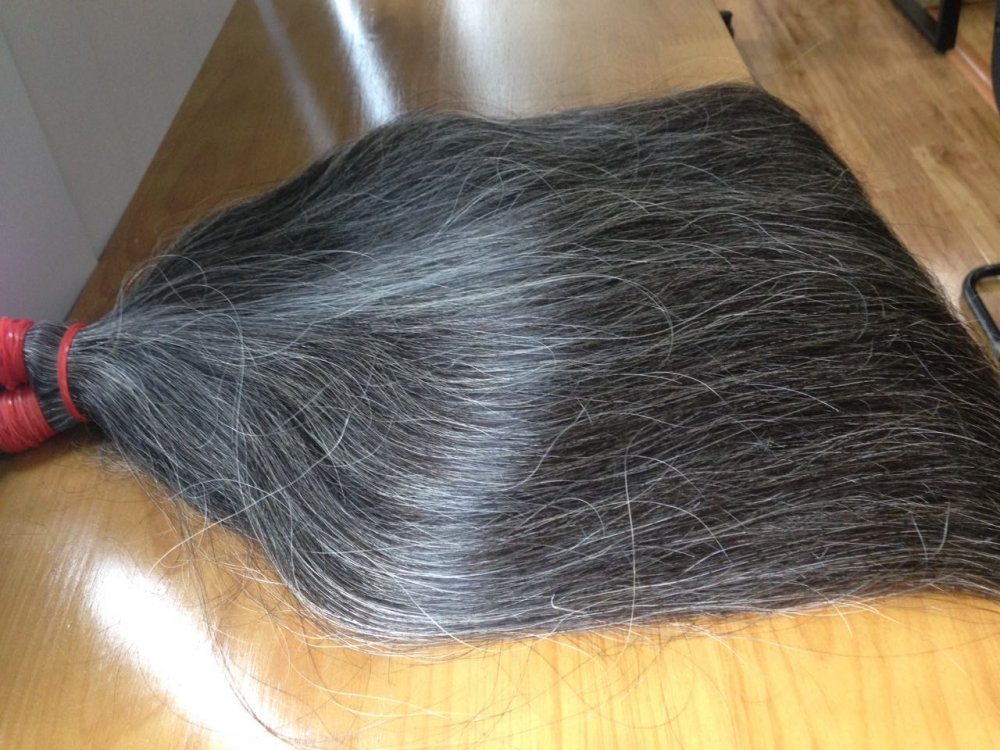 Mua  Natural grey straight human hair