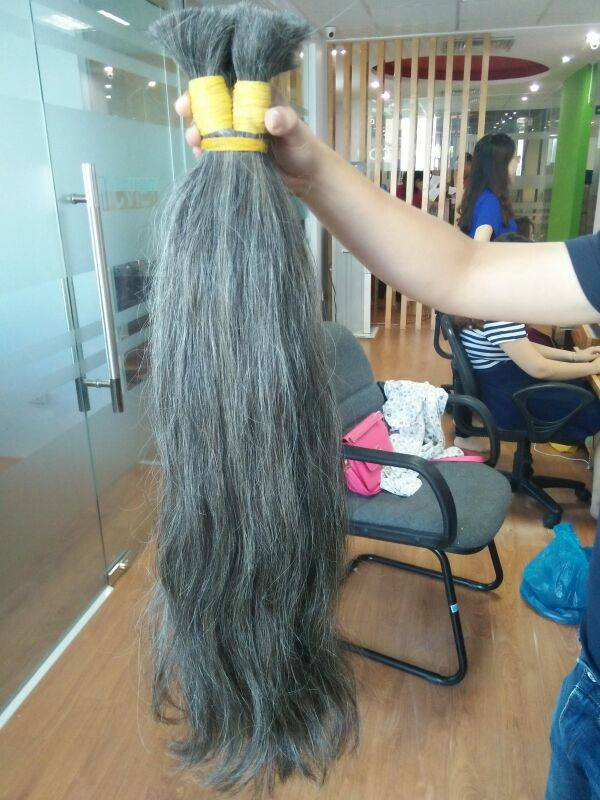 Mua Grey hair remy hair extension from Vietnam