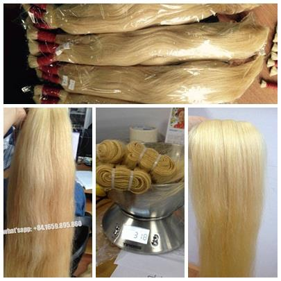 Top quality blond hair extension 100% unprocessed real human hair