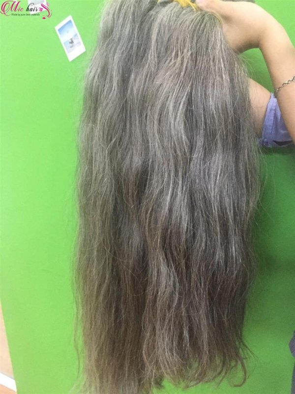 Mua Hot sales Vietnamese grey bulk hair 100% unprocessed hair extension