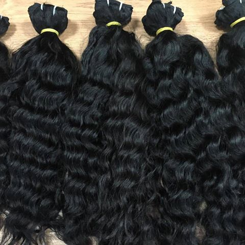 Factory wholesales Wavy machine Vietnamese hair extension