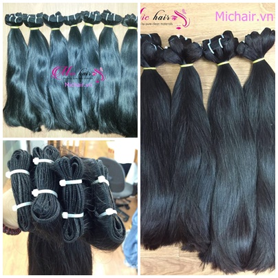 Mua Hot sale straight hair 100% human hair from Vietnam in bulk and weft